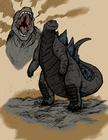 GodzillaSketch by Bug-Off