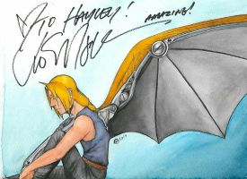 Wingy ed drawing I got signed by Drawings-of-a-madman
