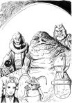Jabba the Hutt Coloring page by antonvandort