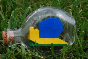 Lego Snail in a Bottle by forteallegretto