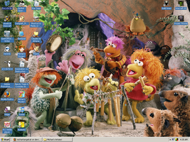 Michan's Fraggle Rock Desktop by Merry-Muse