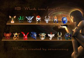 Mask Icons II by ernieleo