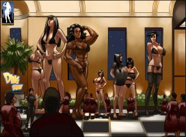 Giantess Resort Lineup by giantess-fan-comics