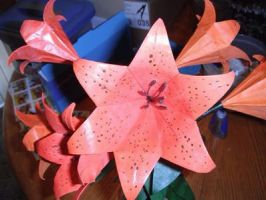 Origami tiger lilies  by Gryph-Draco
