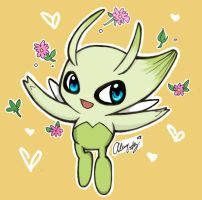 Celebi by DaVolcomQueen