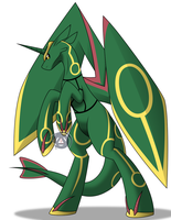 Rayquaza Pony by ErinKarsath
