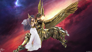 Saint Seiya Legend Of Sanctuary Seiya and Athena by DavidCreativeDesigns
