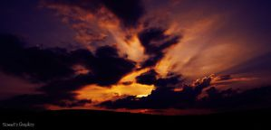 One beautiful sunset sky by Samuels-Graphics
