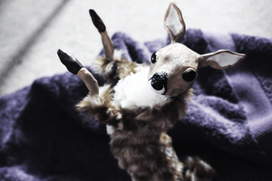 OOAK Pose-Able Fawn by TotemEye