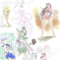 Fun with sailor scouts by Ammosart