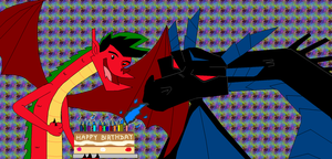 Happy Birthday from Jake Long and Dark dragon by Fluttershy626