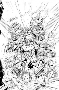 Transformers  MTMTE # 29 Incentive Cover Inks by MarceloMatere