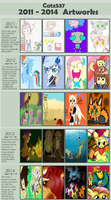 YEAR-YEAR Artworks Meme (blank by Kamaniki) by catz537