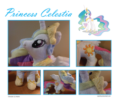 Princess Celestia Plush by caashley