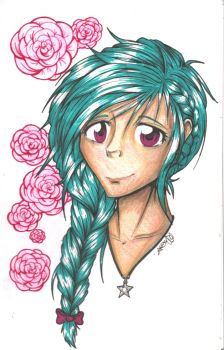 Roses and Ribbons by JammyScribbler