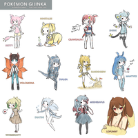Pokemon Gijinkas 2 by Gurinn