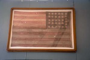 Flag on the U.S.S Missouri by Natures-Studio