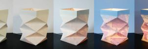 Paper Nightstand Lamp Shade by nero-on-fire