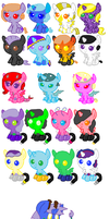 Mixed Baby adopts by Strawberry-T-Pony