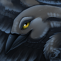 Icon Comish - Midnight Feathers by TwilightSaint