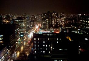 Vancouver at night by Swingerzetta
