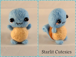 Needle Felted Chibi Squirtle! by StarlitCutesies