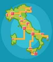 Italy Pokemon Region by ForestIlex