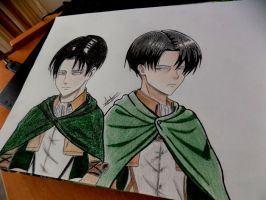 Levi anime and manga style by Anna-Knightley