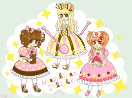 Neapolitan Ice Cream Girls by XxViolentxLolitaxX