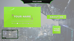 Twitch/Hitbox Streaming Overlay Template Pack #1 by LucioGraphic