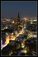 Hamburg at Night 2008 - III by W0LLE