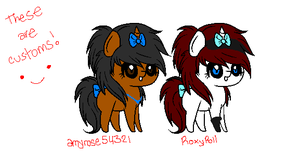 Scene Pony Customs 1 c: by Rainbow-ninja-adopts