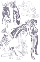 Stream Sketches 1-11-16 by EymBee