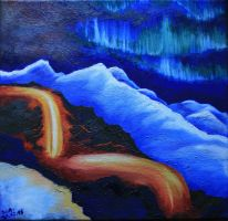 Lava and Ice by Indiliel