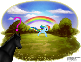 Rainbow Dash in the Safe Haven by jackiehorse