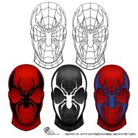 SpiderManGeek Mask Design Variations by eiledon