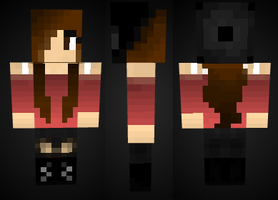 minecraft: Cute Girl Skin Preview by mineskinz