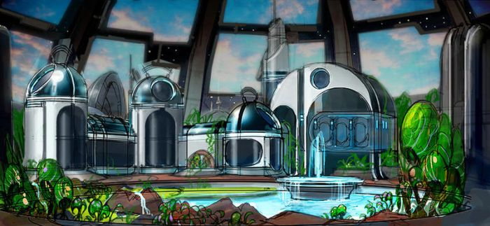 Ratchet and Clank - Max Space Station Interior by rmohr