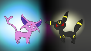 Top36FavoritePokemonCountdown:3 Umbreon and Espeon by Meowstic-45