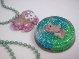 My Little Pony Under Resin Pendant G3 Fluttershy by PoniesOfDOOOM