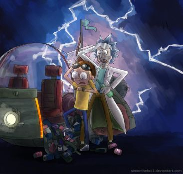 Rick and Morty: Back to the future by SimonTheFox1