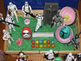 Stormtrooper and Boba Fett Eggs by bluehentrooper