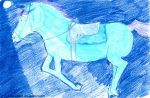 Blue horse by Anouchka2