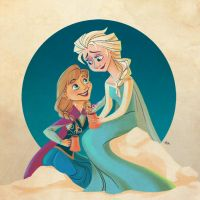 Frozen -- Sister Bonding by danceswithwienerdogs