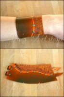 Leather cuff for Mary by izasartshop
