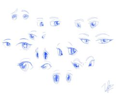 Eye Practice by BluberriePanda