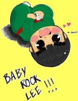 Baby Rock lee Colored by sonicxamy09