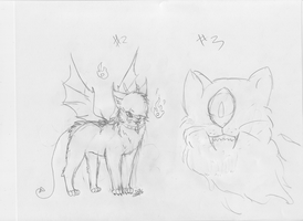 Sketches for Snowflame132's contest #2 and #3 by Dominoluv