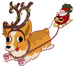 Merry Corgmas by monkette