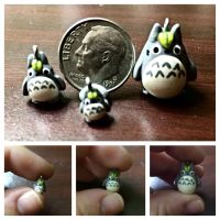 Totoro in 3 charm sizes by LittleCLUUs